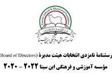 Photo of ۲۰۲۰ – ۲۰۲۲ برگزاری انتخابات هیئت مدیره
